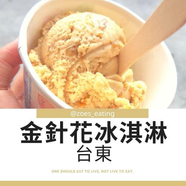 【美食分享】台東美食-金針花冰淇淋❣️嗨大家~我是媃伊🌸-☞♡今天來點•*¨*•.¸¸♪金針花冰淇
