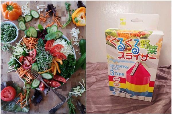 居家生活  ░  親子DIY手作蔬菜水果沙拉,日本捲捲蔬菜切片機原文轉貼自:https: