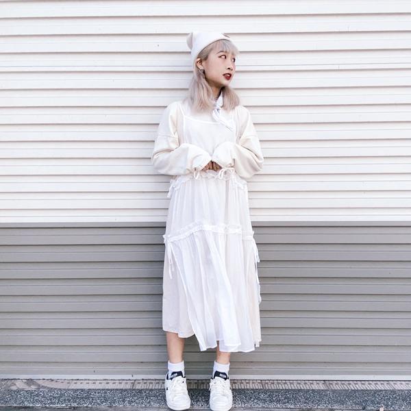 🍁我的入秋穿搭🍁前三套以裙裝為主~ 最近發現穿裙子其實很方便(尤其上廁所!)🤣 如果覺得洋裝太