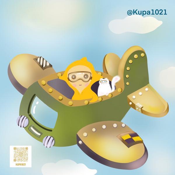 MJ的插畫日常 | 造飛機造飛機飛到天上去⋯😄兒時記憶😄✈️🛩🚀🛸