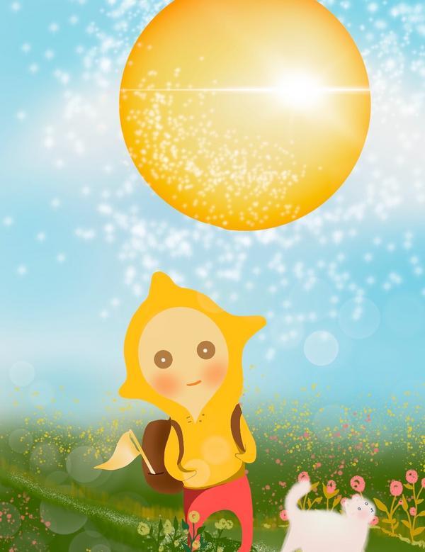 MJ的插畫日常 | 太陽牌卡19號太陽也呼應了我們自身的童年,他讓我們有機會重溫我們的早年生活——那