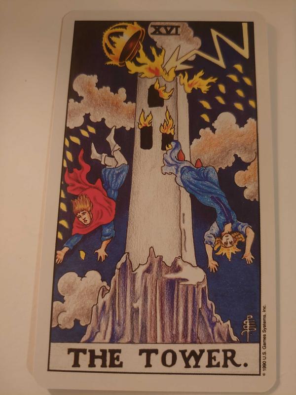 2020/12/03 塔羅牌 今天為你抽到的牌卡是:塔 (The tower)  關鍵字:突然的改變