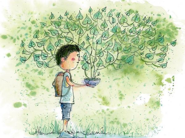 [成就感]--狗竹圖文養植物很有成就感只要水...就可以長大不像養.................