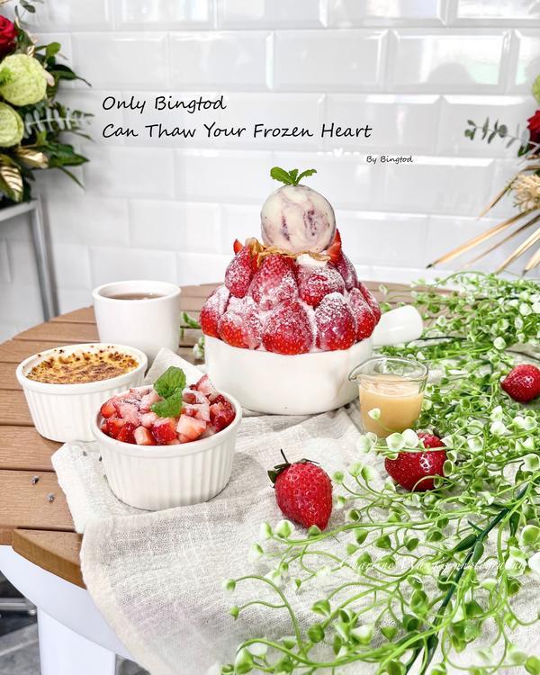 草莓季開跑囉!浮誇草莓山雪花冰🍓❄️高雄美食《鼓山美食》 草莓季就是要瘋狂洗版草莓啊🍓🍓🍓