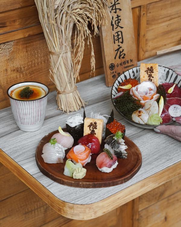 療癒系八顆手毬壽司IG : _allenfood0868  【台北大同】 📷 - 漁米島·海鮮丼專