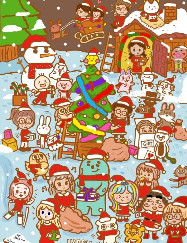 📍朵力畫畫:2020聖誕節港澳台繪者活動🎄今年的聖誕節,我回台灣了,目前在家裡隔離第11天了,雖