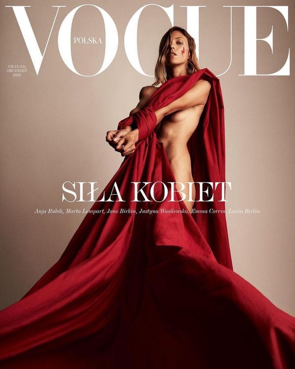 Vogue波蘭版2020年12月號封面 - Anja RubikVogue波蘭版2020年12月號封