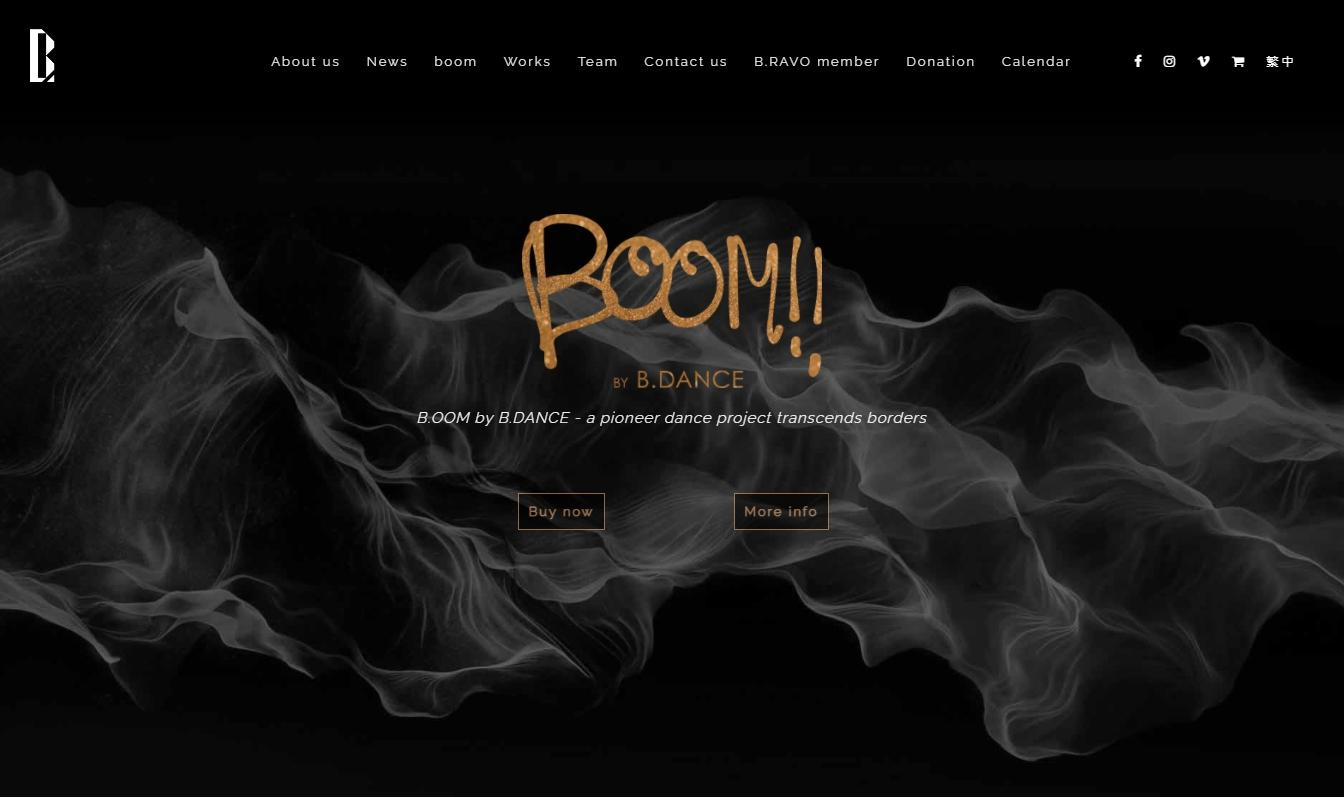 Yonyun網站設計作品_B.DANCE官方網站