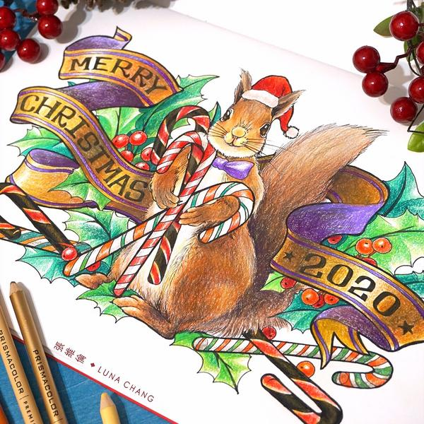 {甜心小偷}聖誕彩繪|著色篇(附Vlog)捨不得過完的聖誕節大家都收到滿意的禮物了嗎?冷冷的天還是窩