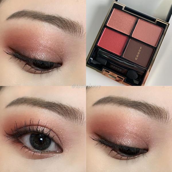 《眼妝分享》 Suqqu晶采立體眼彩盤-136 恋編 Koiami   明顯的紅色調,以日系眼