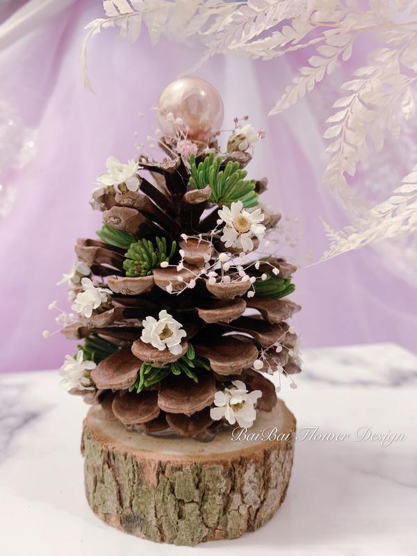 手作聖誕樹聖誕樹x滿滿浪漫不凋繡球花 充滿粉嫩顏色的粉紅聖誕樹🎄  雖然文章晚到🥰🥰 但還是想