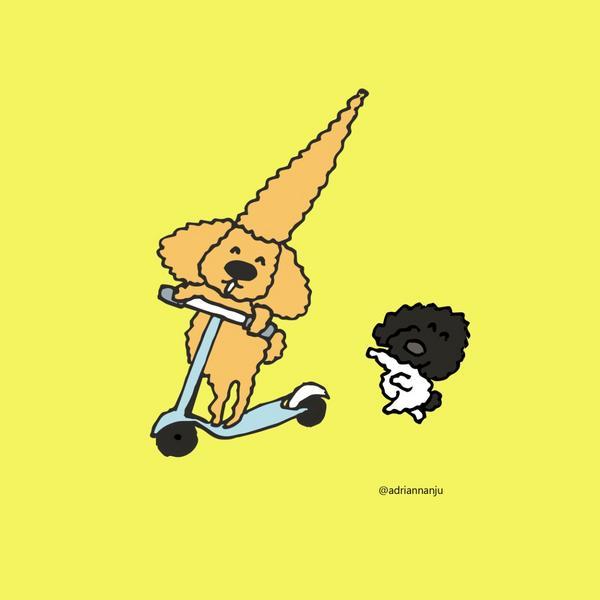 捲心來騎滑板車第一次騎滑板車好開心啊!