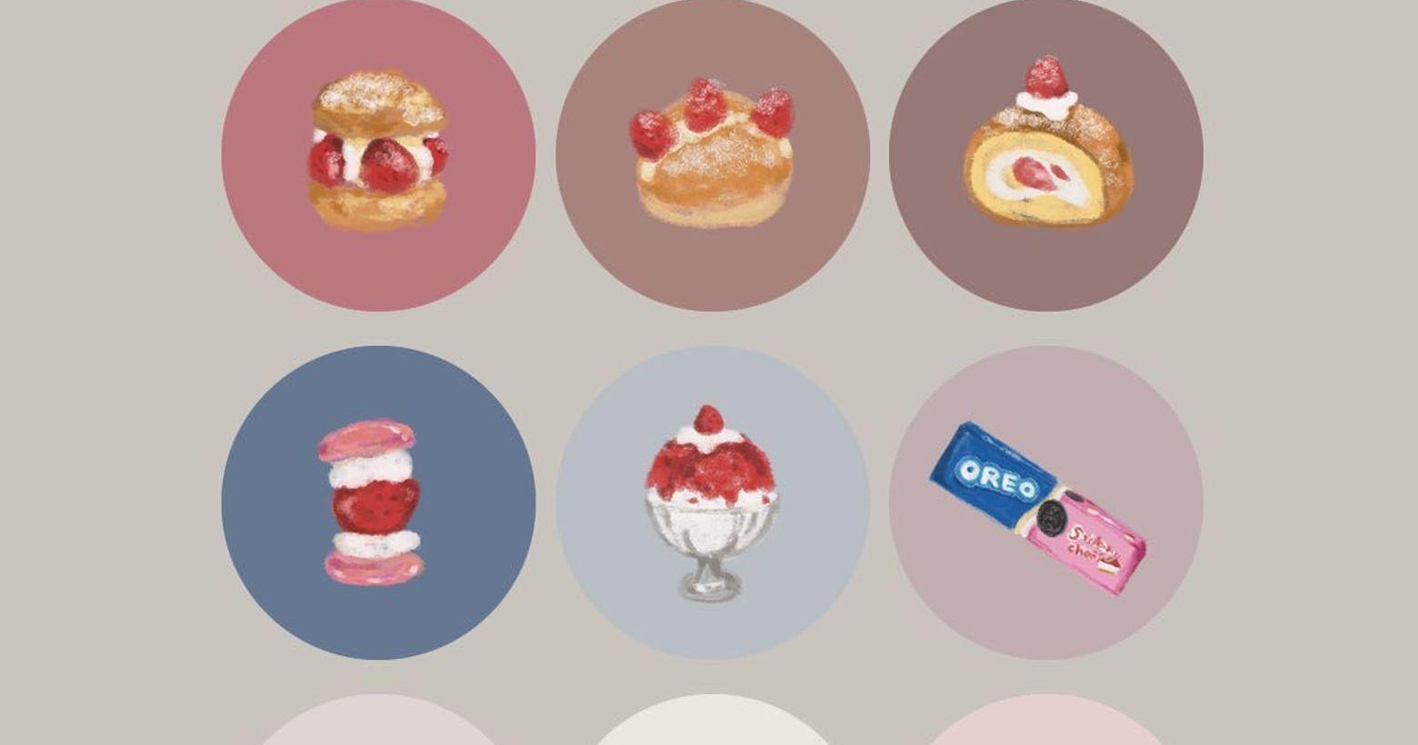 9款 🍓//超夯草莓季限定款IG封面小圖//🍓最喜歡草莓季拉~~每到草莓季,到處就可以看到滿滿的