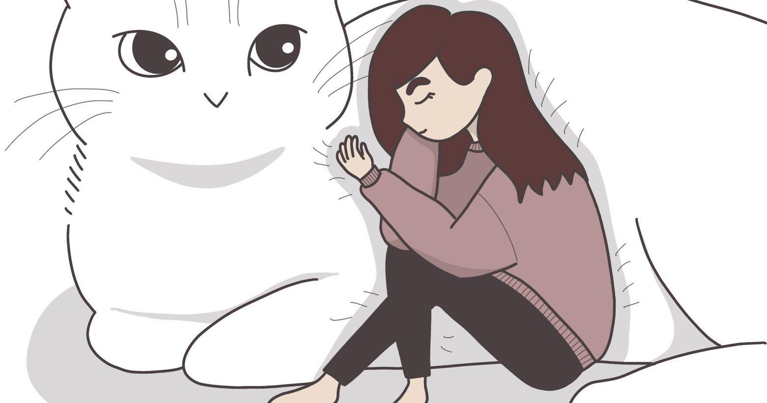 伴我入睡_真希望有張貓咪床,這樣每天都可以爬貓咪山睡覺了💤喜歡我的插圖嗎?