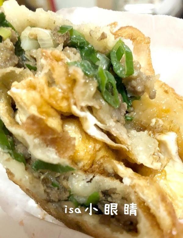 夏林蔥油餅 (台南 夏林路)這家蔥油餅,是攤子不是店家,營業時間其實也不太一定,天氣太差或者賣完就沒