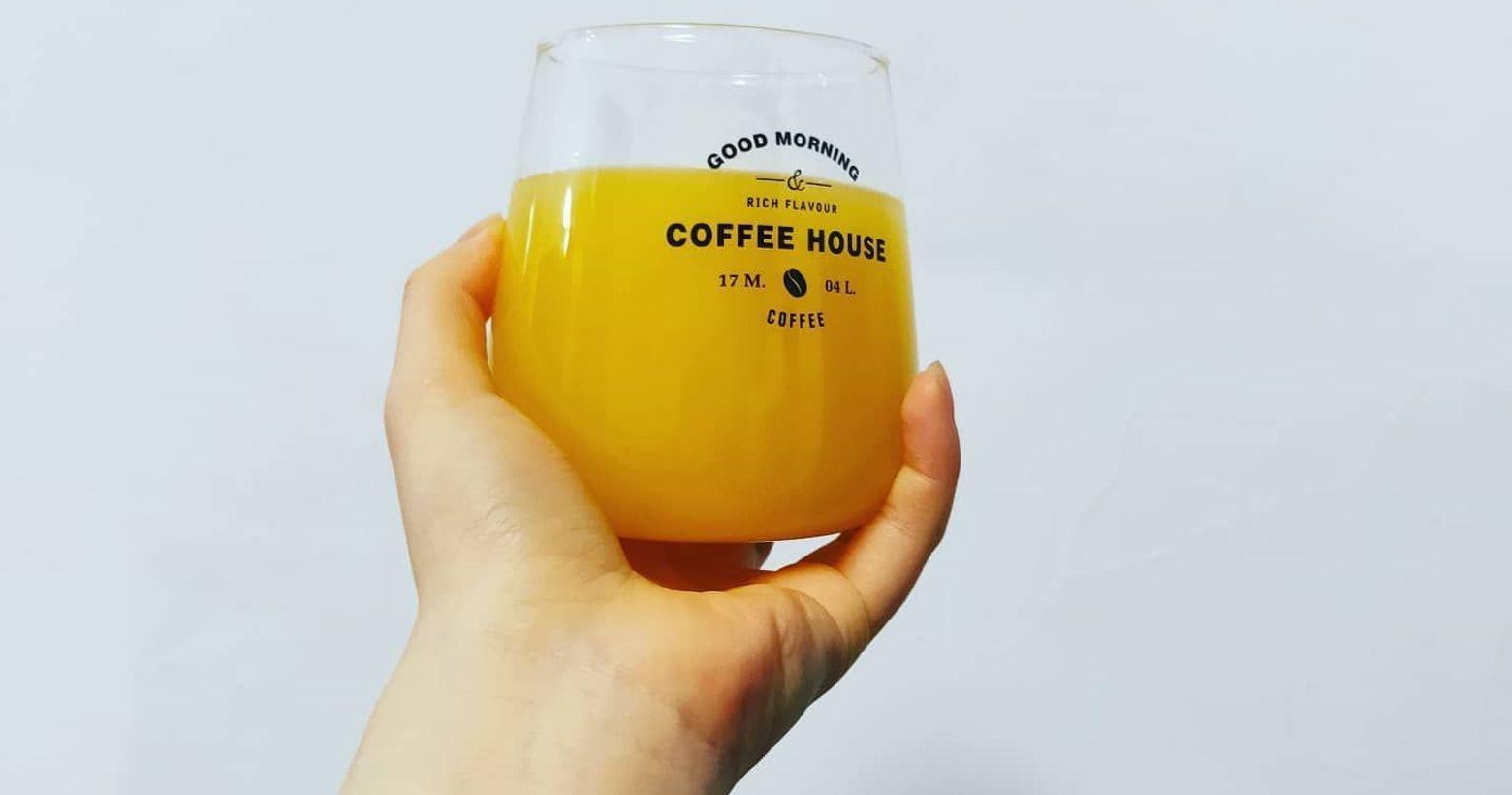 【一起開喝吧!】柳橙綠茶今天是大年初二,部分店家還在休息中,我自