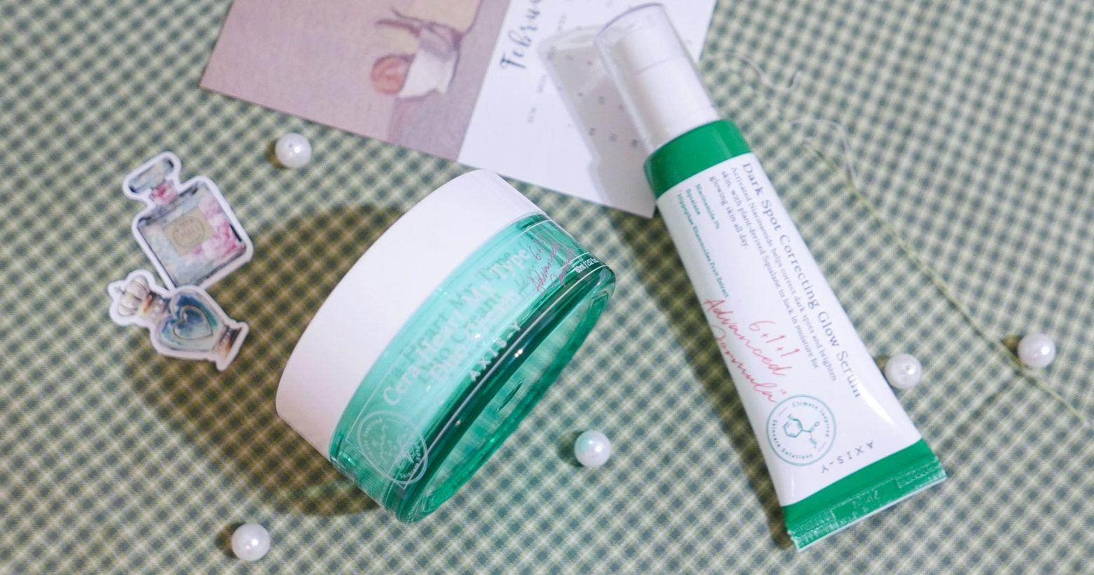 【韓國保養】韓國AXIS-Y安舒研|透潤雙效精華霜&淨亮白橡皮擦精華|穩定肌膚,擁有韓妞愛用的小眾品