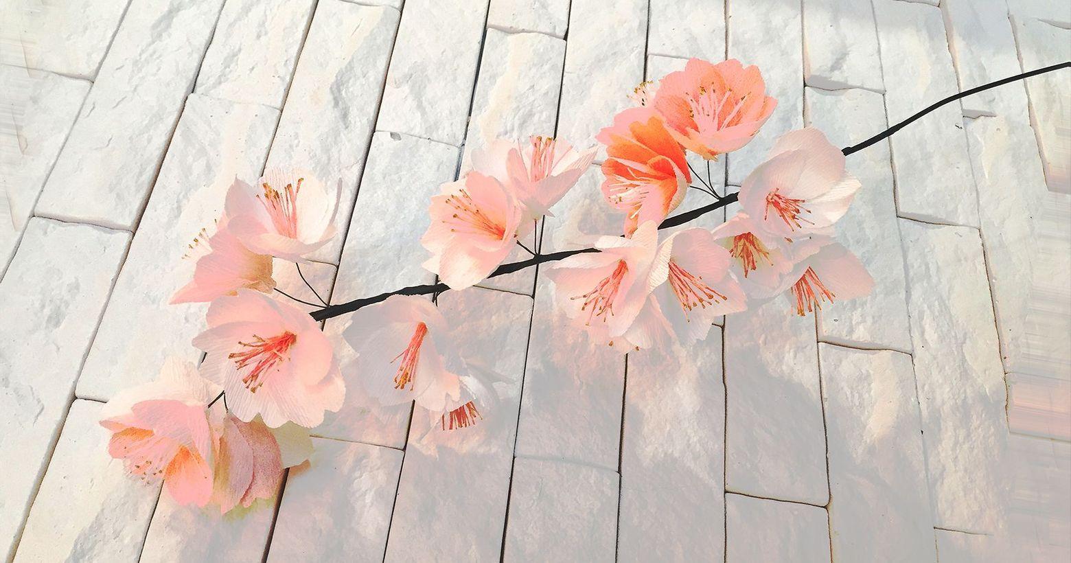花藝/2月/櫻雨紛飛/生活美學 Fraine Art & Life/紙花花藝那天⋯⋯妳見過櫻花下雨嗎